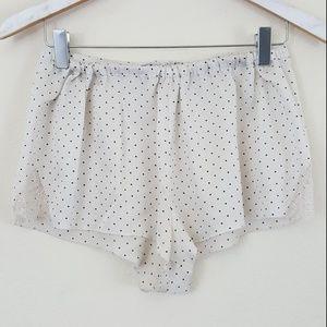 Victoria's Secret Polka Dot Lace PJ Shorts S